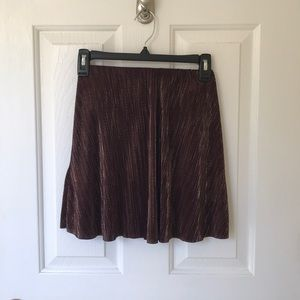 Maroon and gold skirt BCBGeneration
